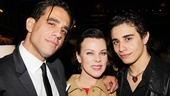 Bobby Cannavale and son Jake share a parting shot with screen favorite Debi Mazar.