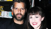 Ricky Martin shares a snapshot with Kinky Boots&#39; big-belting featured player Celina Carvajal.