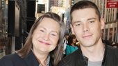 Cherry Jones, who won a Tony for her work in MTC's Doubt, is accompanied by her recent Glass Menagerie co-star Brian J. Smith.