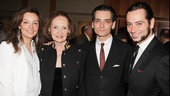 Title star Constantine Maroulis enjoys this big opening night with his family.