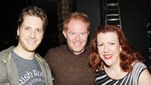 Jesse Tyler Ferguson says hello to featured Kinky players Andy Kelso and Jennifer Perry.