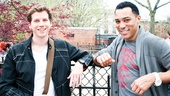 Dashing duo Stark Sands and Charl Brown hit Tompkins Square Park at the start of an afternoon of reminiscing.