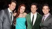Broadway vets Matthew Morrison, Sierra Boggsess, Nick Adams and Jeremy Jordan enjoy an evening of theater love at the Broadway.com Audience Choice Awards.