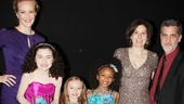2013 Audience Choice Awards- Katie Finneran- Lilla Crawford- Emily Rosenfeld- Tyrah Skye Odoms- Arielle Tepper Madover – Bill Berloni- Sunny the Dog