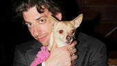 Legally Blonde leading man Christian Borle and Bruiser give it up for director/choreographer Jerry Mitchell.