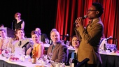 Kinky Boots' Billy Porter addresses the lunching crowd. Check out his starry tablemates!