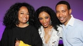 Superstar Diana Ross poses backstage at Motown with Valisia LeKae and director Charles Randolph-Wright.
