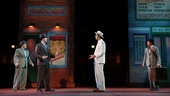 Robert Creighton, Tyler Caffall, Hamish Linklater and Jesse Tyler Ferguson in The Comedy of Errors.