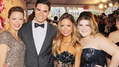 Kate Rockwell, Jason Gotay, Elle McLemore and Ryann Redmond celebrate Bring It On's Best Musical nomination.