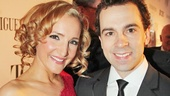 Actress Maggie Lakis looks beautiful on the arm of her Tony-nominated husband Rob McClure.