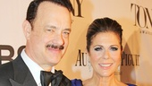 Tom Hanks and Rita Wilson cause a flurry of excitement as the Lucky Guy hits the red carpet.