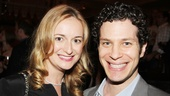 Nell Benjamin smiles with the busy director Thomas Kail.