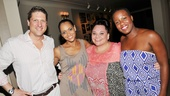 Tony nominee Christopher Sieber enjoys the evening with co-stars Rema Webb, Keala Settle and Anastacia McCleskey.