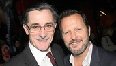 Roger Rees gets chummy with Tony winner Rob Ashford, who directed last season's revival of Cat on a Hot Tin Roof.