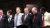 Bravo! The cast of A Time to Kill lines up with author John Grisham and adaptor Rupert Holmes for an opening night bow.