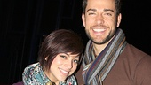 First Date headliners Krysta Rodriguez and Zachary Levi can't wait to break into the bubbly to celebrate their 100th Broadway performance.