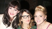 Look at those smiles! Lena Hall and Annaleigh Ashford flank Emmy winner Tina Fey.