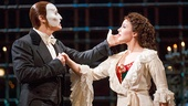 Hugh Panaro as The Phantom & Mary Michael Patterson as Christine inThe Phantom of the Opera. Photo by Joan Marcus
