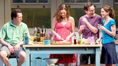 Darren Pettie as Tom, Heather Burns as Beth, Jeremy Shamos as Gabe & Marin Hinkle as Karen in Dinner with Friends