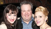 Kinky Boots leading ladies Lena Hall and Annaleigh Ashford hang out with Modern Family funny guy Eric Stonestreet.