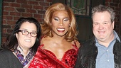 Kinky Boots co-stars Billy Porter & Andy Kelso kick back with Rosie O'Donnell and Modern Family star Eric Stonestreet.