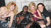 Joique Bell had a blast with Rock of Ages co-stars Joey Calveri, Kate Rockwell and Aaron C. Finley!