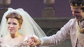 Led by her prince, Joe Carroll, Carly Rae Jepsen takes a bow. See her in Cinderella at the Broadway Theatre!