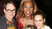 Matthew Broderick, Sarah Jessica Parker and James Wilkie take a glamorous shot with Kinky Boots star Billy Porter.