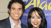 Meet Aladdin and Jasmine! Adam Jacobs and Courtney Reed flash big smiles.