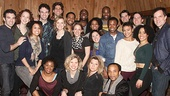The cast of  Beautiful: The Carole King Musical takes a company photo. Pick up the new album this spring!