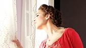 Alexandra Silber as Sara Jane & music director Ben Moss in Arlington