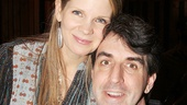Kelli O'Hara takes a break with The Bridges of Madison County composer Jason Robert Brown.
