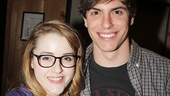 Caitlin Kinnunen and Derek Klena play a squabbling brother and sister in the new musical.