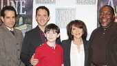 Act One stars Tony Shalhoub, Santino Fontana, Matthew Schecter, Andrea Martin and Chuck Cooper line up for a photo.