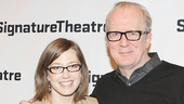 Tony nominee Carrie Coon and her husband, The Realistic Joneses star Tracy Letts enjoy a date night on Broadway.