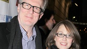 The Realtic Joneses star Tracy Letts enjoys a date night with his wife, Tony nominee Carrie Coon.