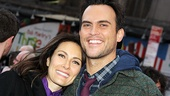 The Most Happy Fella co-stars Laura Benanti and Cheyenne Jackson enjoy a night out together.