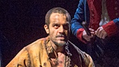 Will Swenson as Javert  & Ramin Karimloo as Jean Valjean in Les Miserables Photo by Michael Le Poer Trench