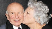 Aww! Tyne Daly gives playwright Terrence McNally an opening night smooch.