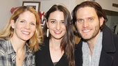 Bridges stars Kelli O'Hara and Steven Pasquale with Sara Bareilles.