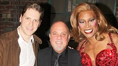 Kinky Boots stars Andy Kelso (Charlie Price) and Billy Porter (Lola) flank Grammy-winning singer-songwriter Billy Joel.