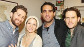 Glee's Matthew Morrison and stage and screen star Bobby Cannavale greet Bridges headliners Kelli O'Hara and Steven Pasquale backstage.