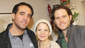 Tony nominee Bobby Cannavale takes a snapshot with The Bridges of Madison County stars Kelli O'Hara and Steven Pasquale. See them in the new musical at the Schoenfeld Theatre!