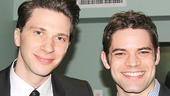 Rock of Ages reunion! Kinky Boots angel Joey Taranto and The Last Five Years movie star Jeremy Jordan relax at the event.