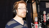 If/Then star Anthony Rapp concentrates in the booth.