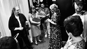 Jessie Mueller and the Beautiful company assemble before the show.