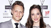 The Threepenny Opera star Laura Osnes and her husband Nathan Johnson.