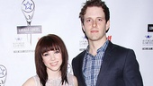 Cinderella headliners Carly Rae Jepsen and Joe Carroll strike a pose on the red carpet.
