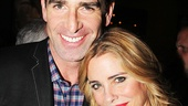 After the show, Under My Skin stars Matt Walton (Harrison Badish III) and Kerry Butler (Melody Dent) take a snapshot.