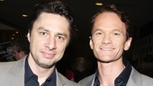 Bullets Over Broadway star Zach Braff and Hedwig's Neil Patrick Harris look dapper at the luncheon.